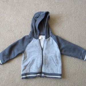 Gymboree bear varsity stripe hoodie 12-18 mo